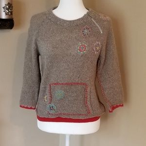 Free People Nordic Patch Sweater